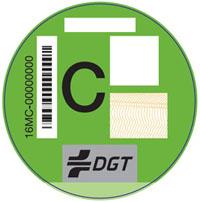 pegatina DGT vehiculos C